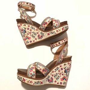 cc725938e14 Gianni Bini Shoes - Gianni Bini Lusia Embroidered Wedges